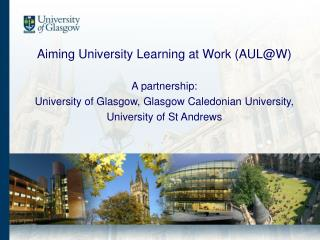 Aiming University Learning @ Work