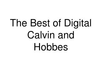 The Best of Digital Calvin and Hobbes