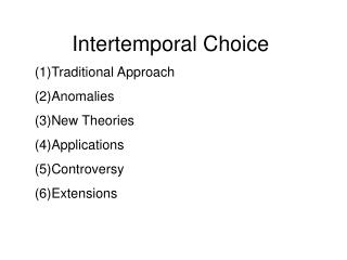 Intertemporal Choice