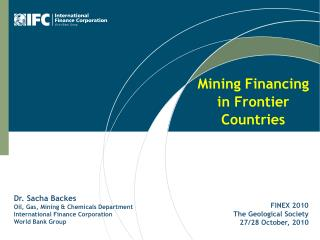 Mining Financing in Frontier Countries