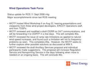 Wind Operations Task Force