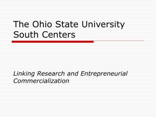 The Ohio State University South Centers
