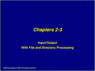 Chapters 2-3