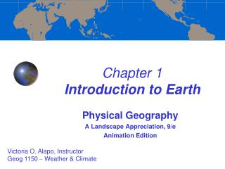 Chapter 1  Introduction to Earth