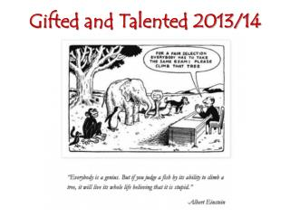 Gifted and Talented 2013/14