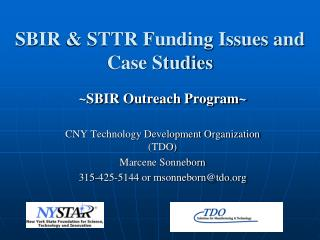 SBIR & STTR Funding Issues and Case Studies