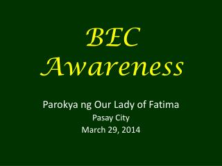 BEC Awareness