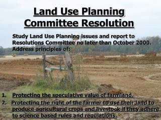 Land Use Planning Committee Resolution