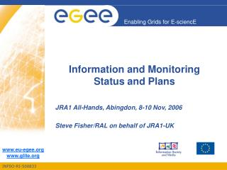 Information and Monitoring Status and Plans
