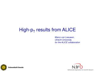 High-p T  results from ALICE