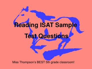 Reading ISAT Sample  Test Questions