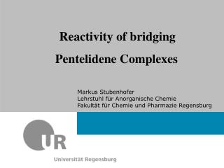 Reactivity of bridging Pentelidene Complexes