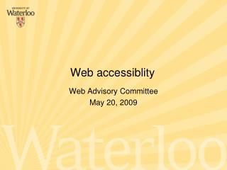 Web Advisory Committee  May 20, 2009