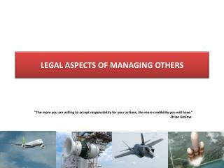 Legal Aspects of Managing Others
