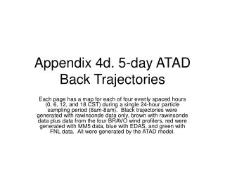 Appendix 4d. 5-day ATAD Back Trajectories