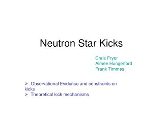 Neutron Star Kicks