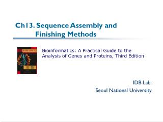 Ch13. Sequence Assembly and           Finishing Methods