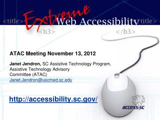 ATAC Meeting November 13, 2012