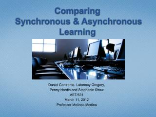 Comparing  Synchronous & Asynchronous Learning