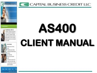 AS400 CLIENT MANUAL