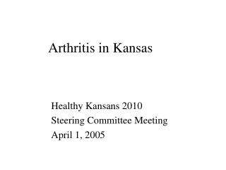 Arthritis in Kansas