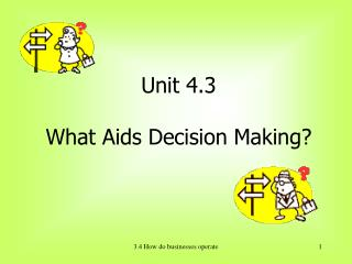 Unit 4.3 What Aids Decision Making?