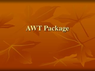 AWT Package