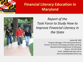 Report of the Task Force to Study How to Improve Financial Literacy in the State