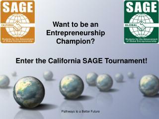 Want to be an Entrepreneurship Champion?