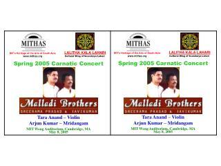 Spring 2005 Carnatic Concert