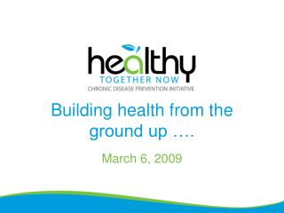 Building health from the ground up ….