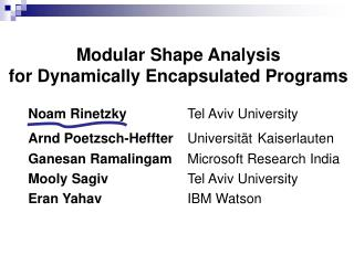 Modular Shape Analysis for Dynamically Encapsulated Programs