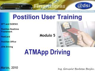 Postilion User  Training