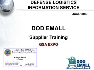 DEFENSE LOGISTICS  INFORMATION SERVICE