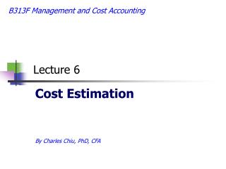 B313F Management and Cost Accounting