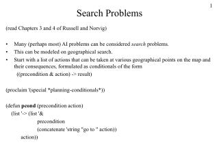Search Problems