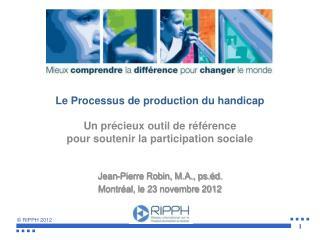 Le Processus de production du handicap