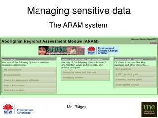 Managing sensitive data