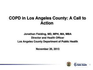 COPD in Los Angeles County: A Call to Action