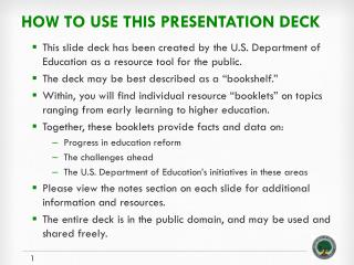 How to use this presentation deck