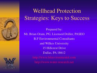 Wellhead Protection Strategies: Keys to Success