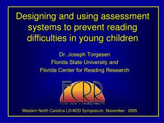 Designing and using assessment systems to prevent reading difficulties in young children