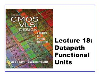 Lecture 18:  Datapath Functional Units