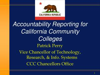 Accountability Reporting for California Community Colleges