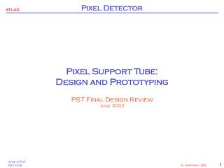 Pixel Support Tube: Design and Prototyping PST Final Design Review June 2002