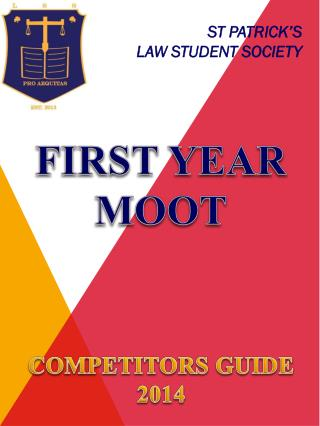 FIRST YEAR MOOT