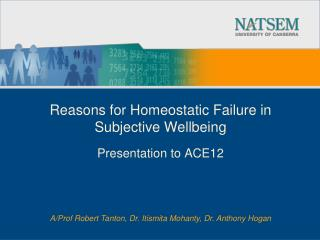 Reasons for Homeostatic Failure in Subjective Wellbeing