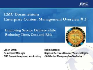 EMC Documentum Enterprise Content Management Overview # 3