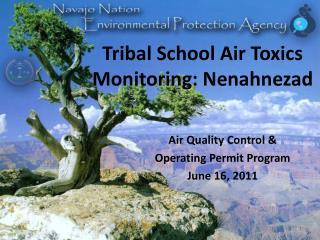 Tribal School Air Toxics Monitoring: Nenahnezad