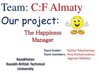 Team:  C:F Almaty